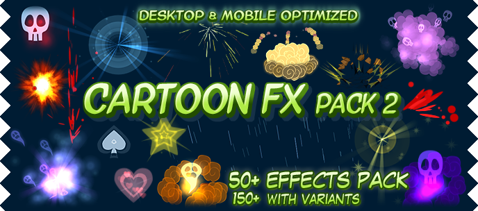 released cartoon fx pack 2 more awesome toon styled particles 40