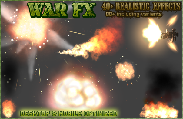 War FX : Realistic explosions, weapon effects, fire, smoke